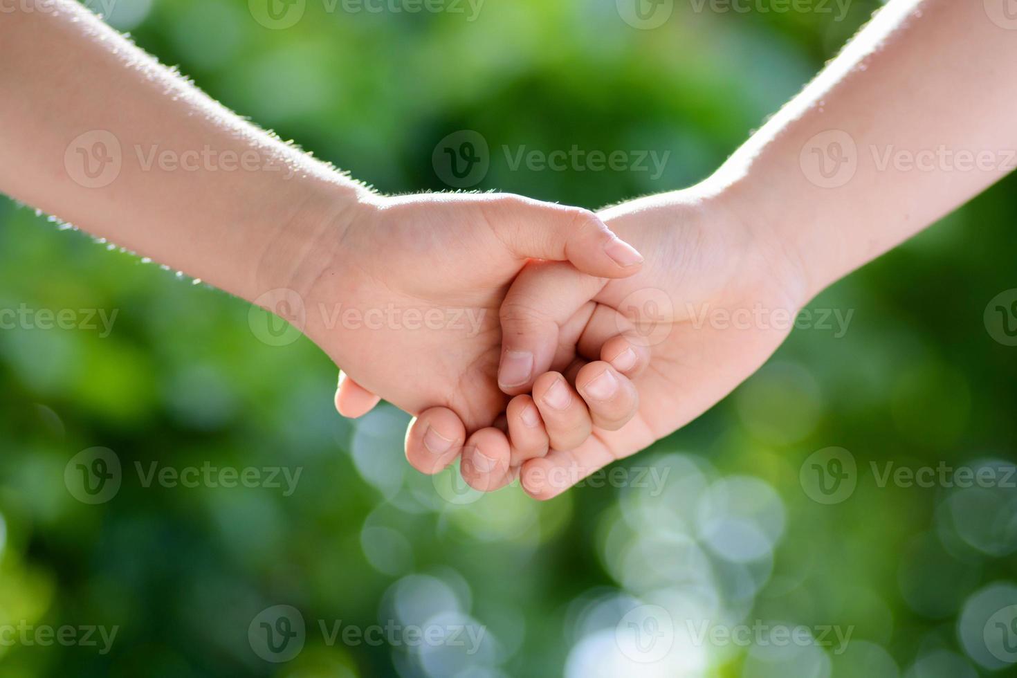 Hand zusammen foto