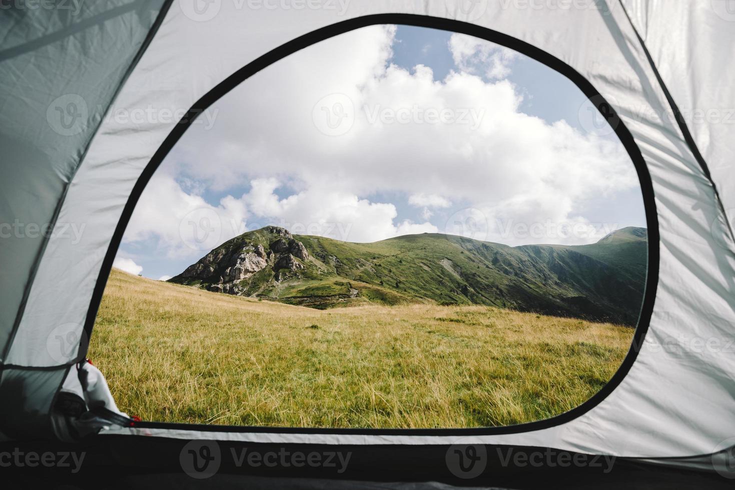 Blick vom Zelt foto