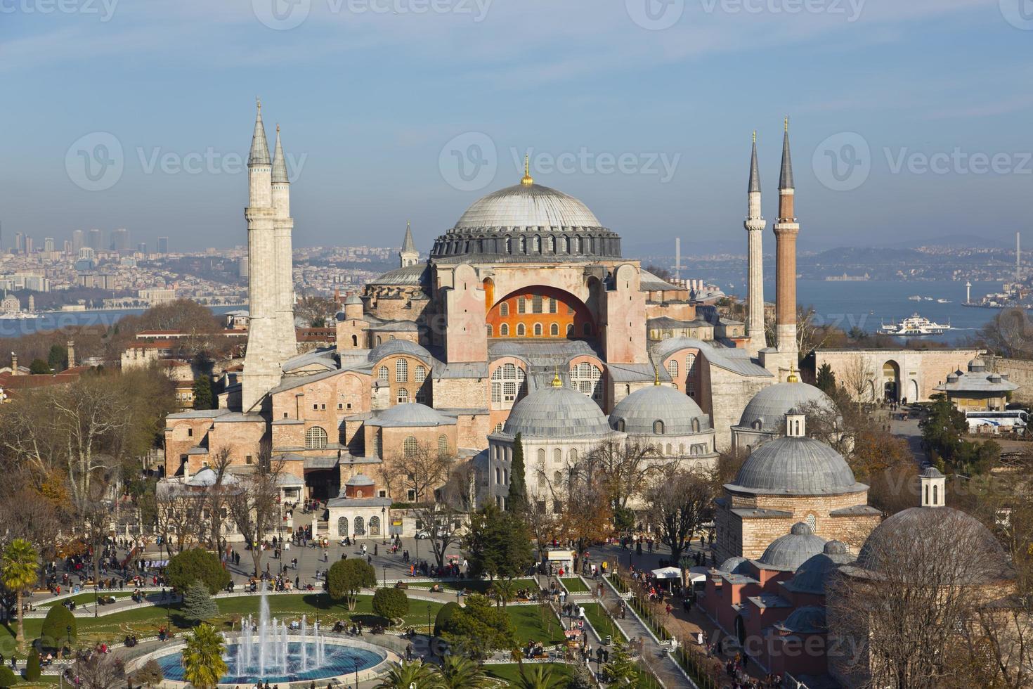 schöne Luftaufnahme des Hagia Sophia Museums foto
