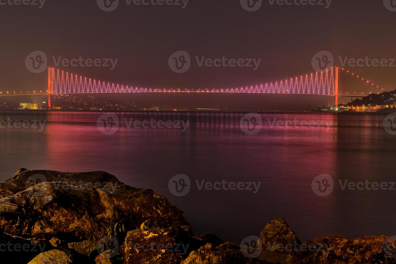 Bosporus-Brücke, Istanbul, Truthahn foto