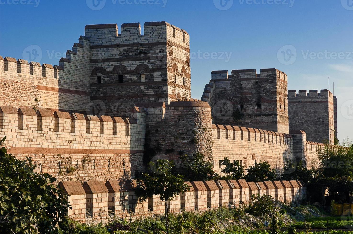 Stadtmauer von Istanbul, Türkei foto