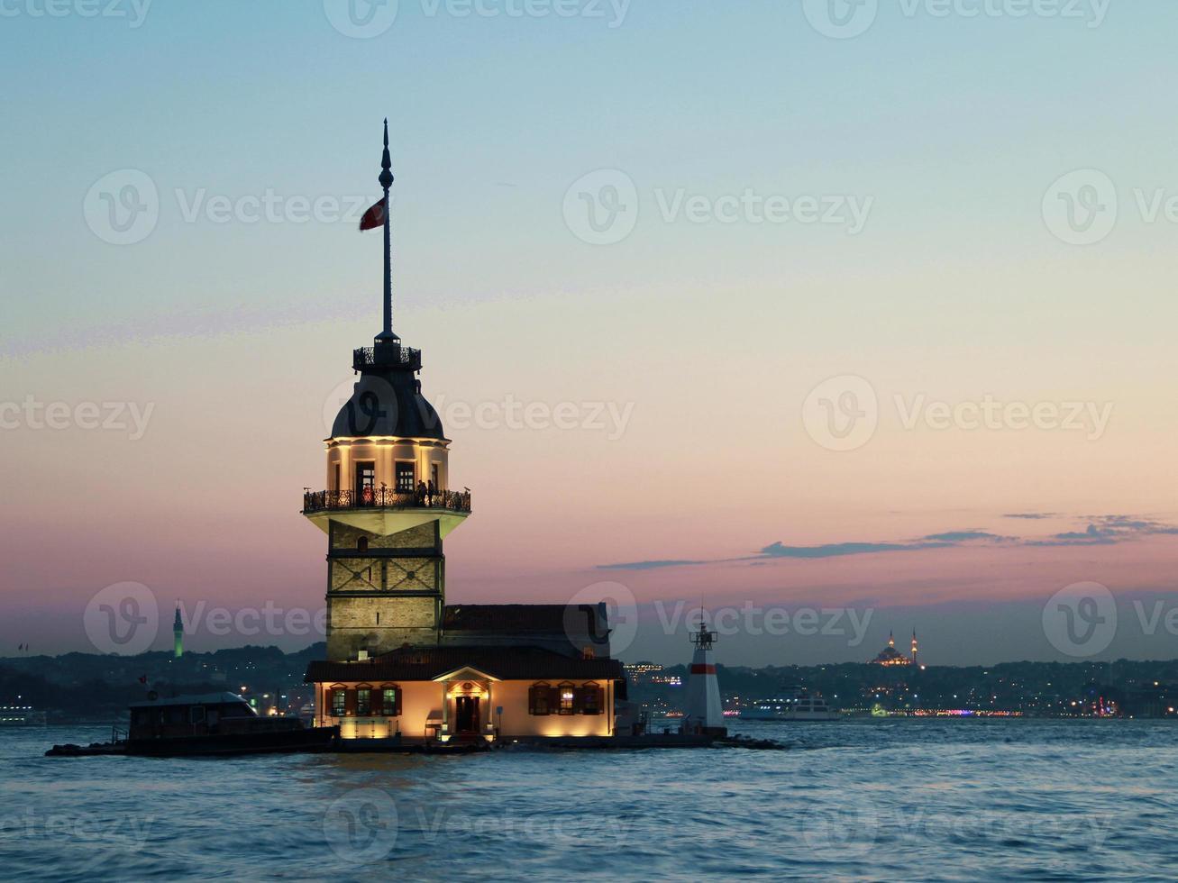 Jungfrauenturm in Istanbul, Truthahn foto