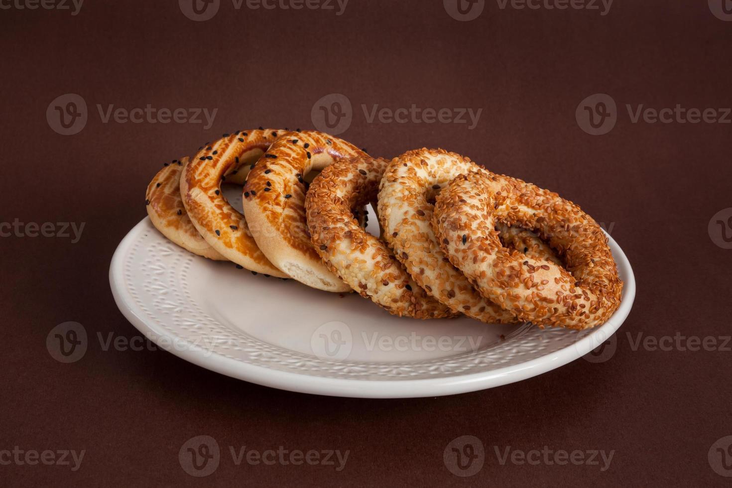 türkischer Bagel (kandil simiti) foto