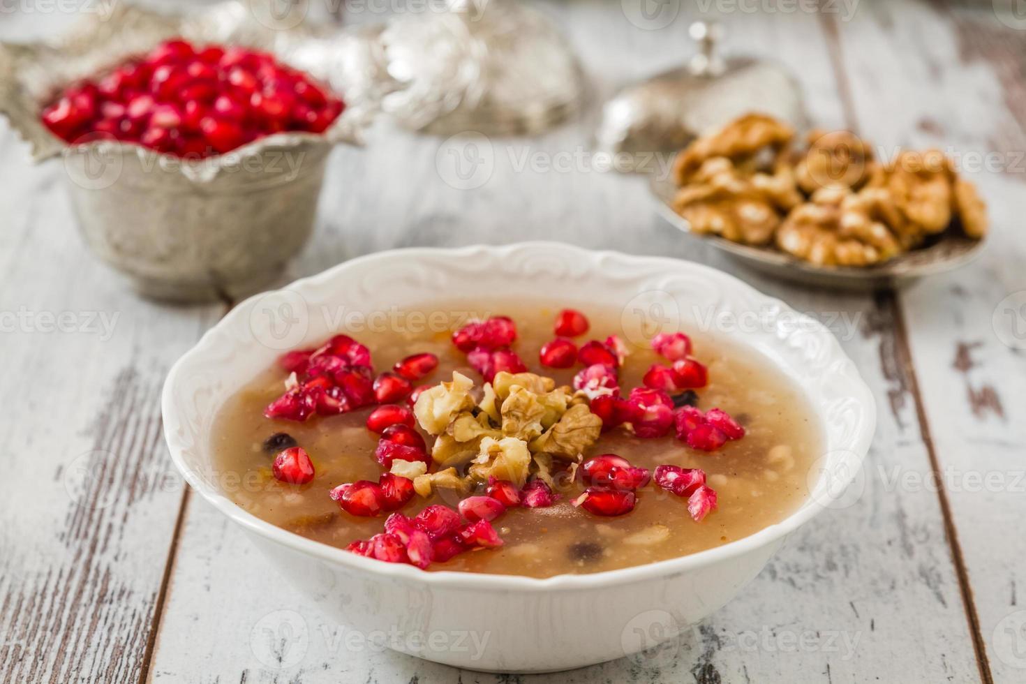 türkisches Dessert Ashura foto