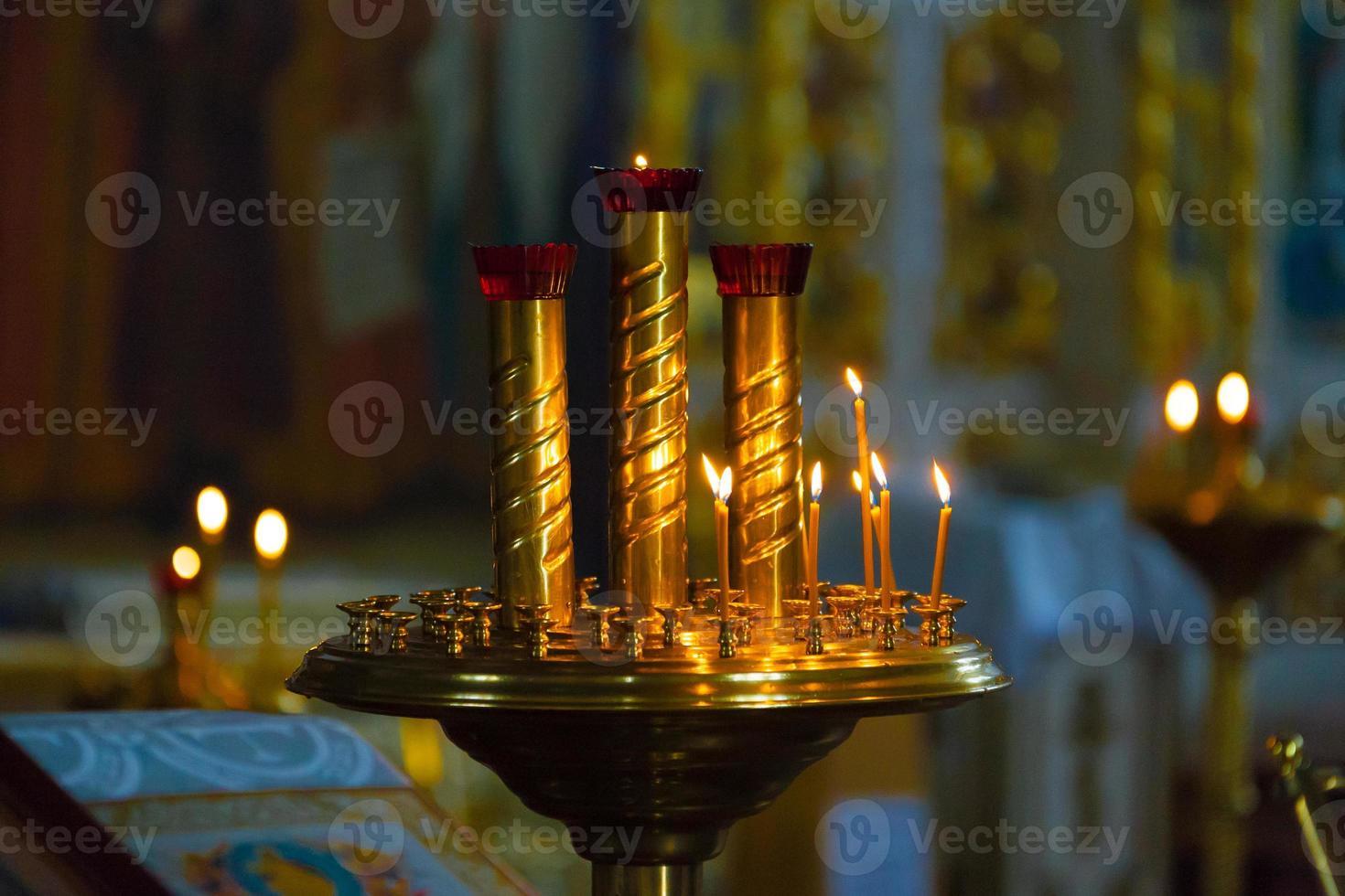 orthodoxe Kirche im Inneren foto
