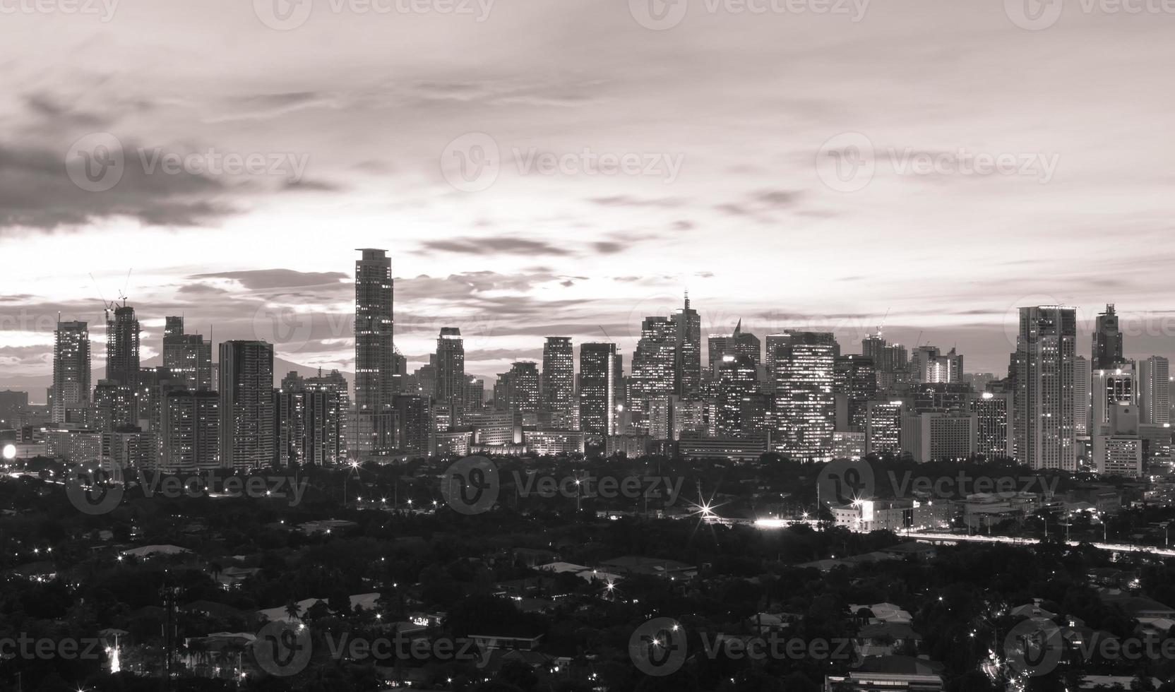 Manila in der Nacht foto