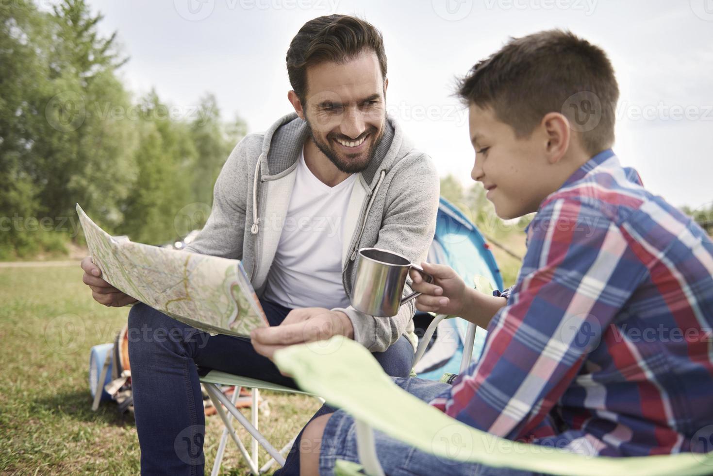 Familienvorbereitung Trail für das Wochenende foto