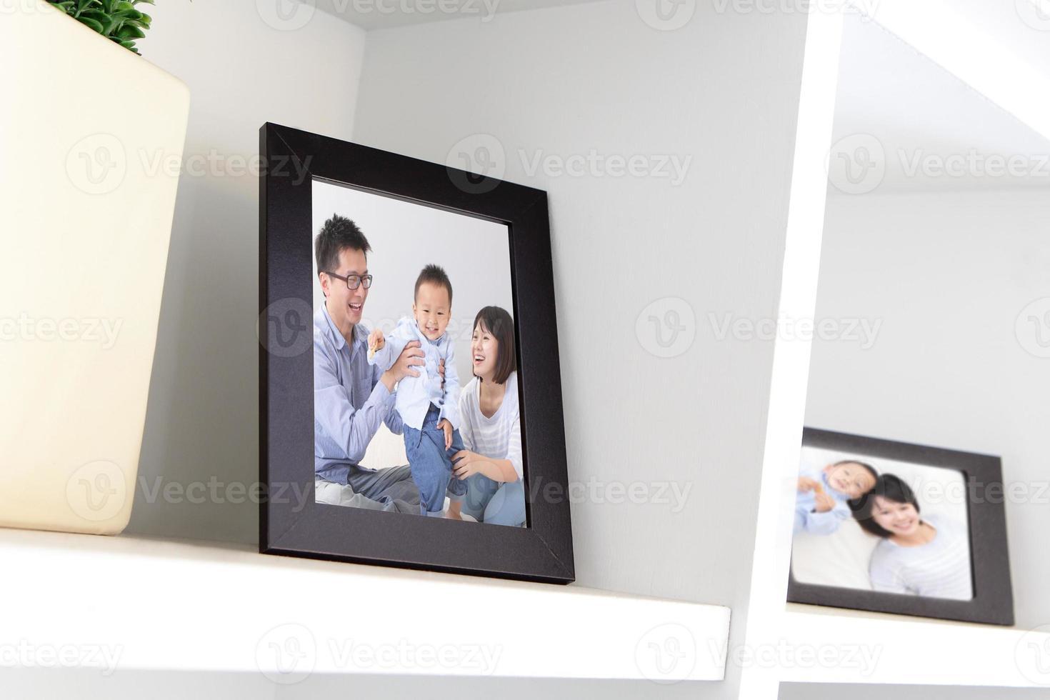 glückliches Familienfoto foto