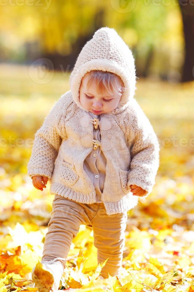 Herbstporträt des Kindes foto