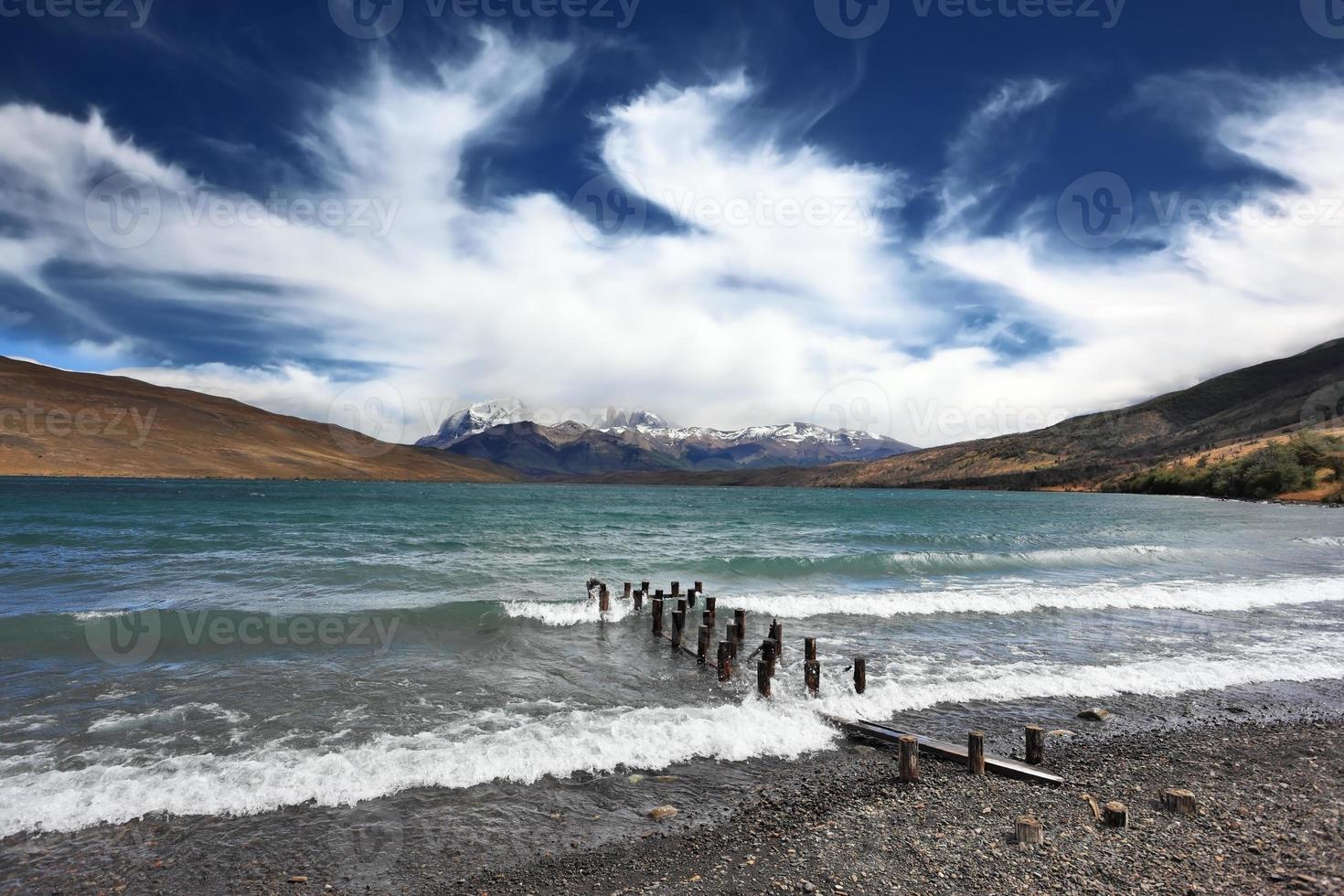 verrückter Wind Patagonien foto