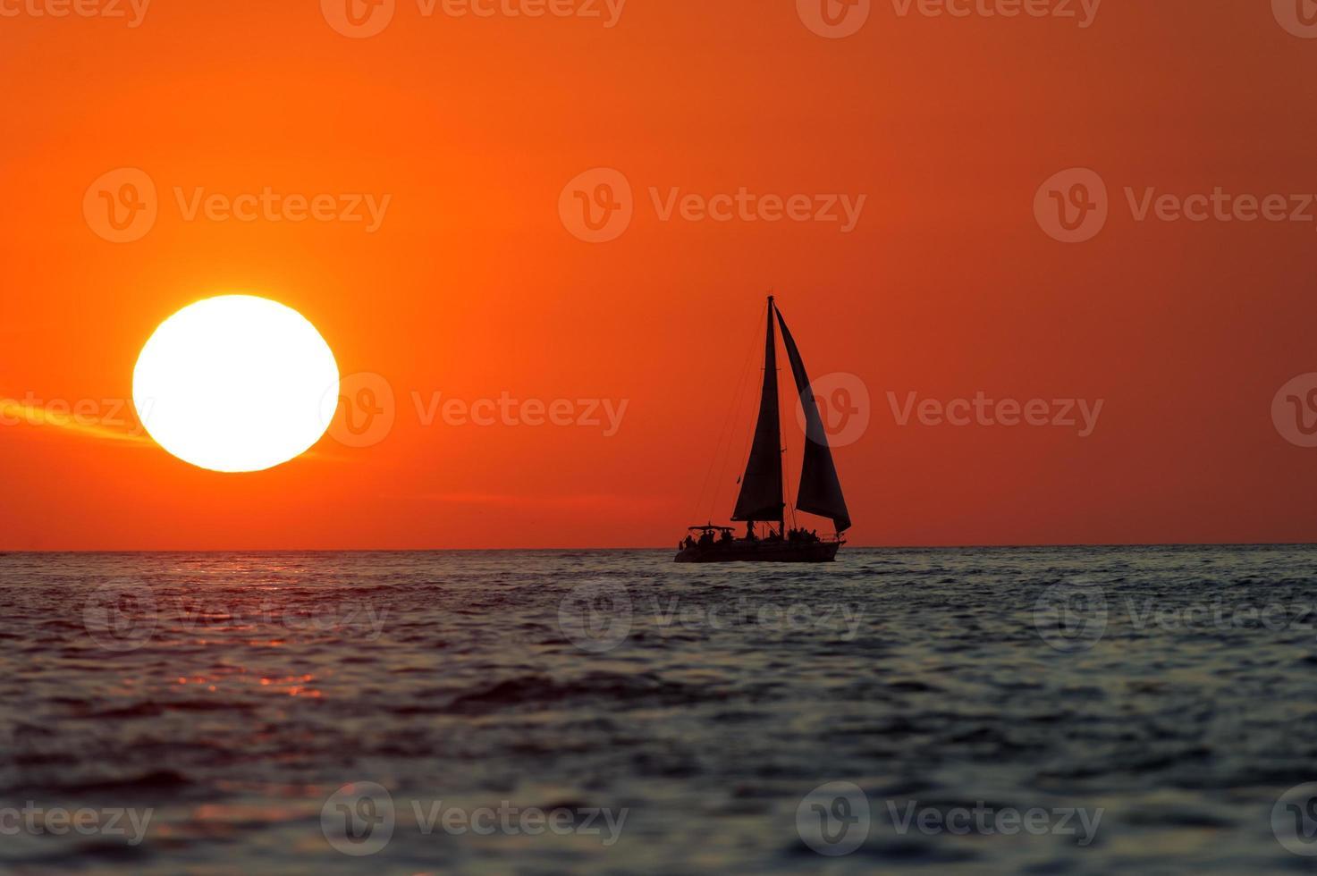 Segelboot Sonnenuntergang foto
