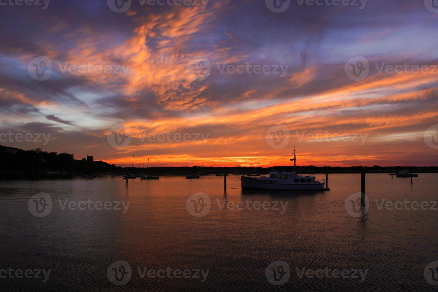 Hafen Sonnenuntergang foto