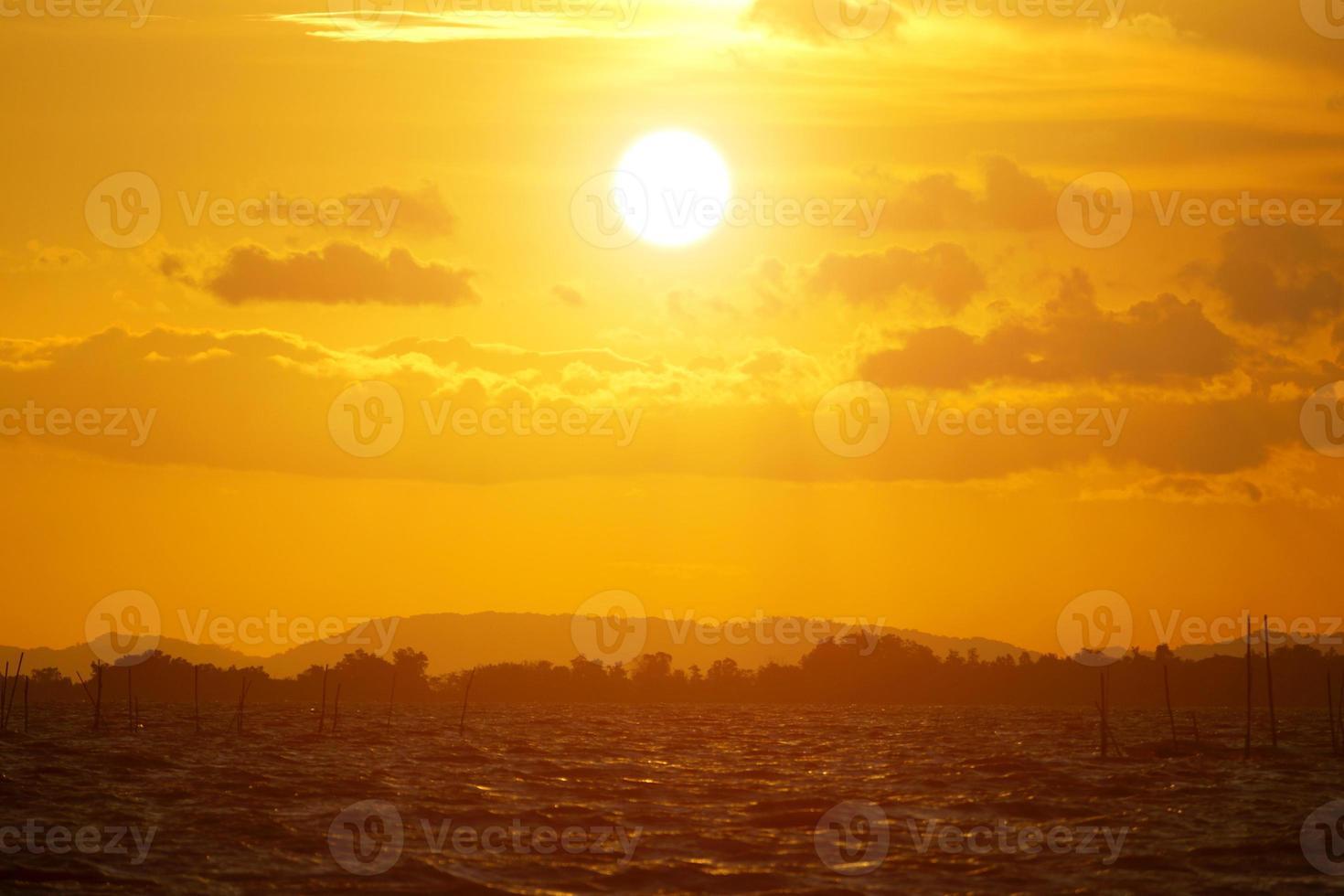 Sonnenuntergang Himmel, Thailand. foto