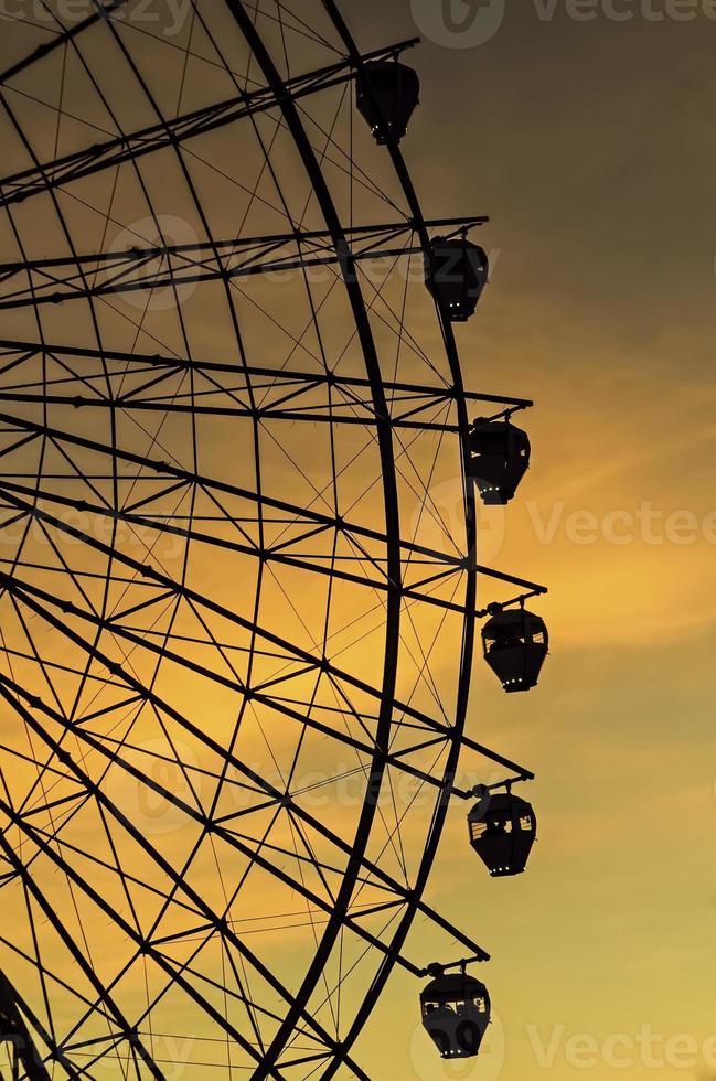 Sonnenuntergang Riesenrad foto