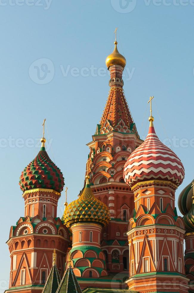 st. Basilikum Kathedrale auf rotem Quadrat in Moskau, Russland foto