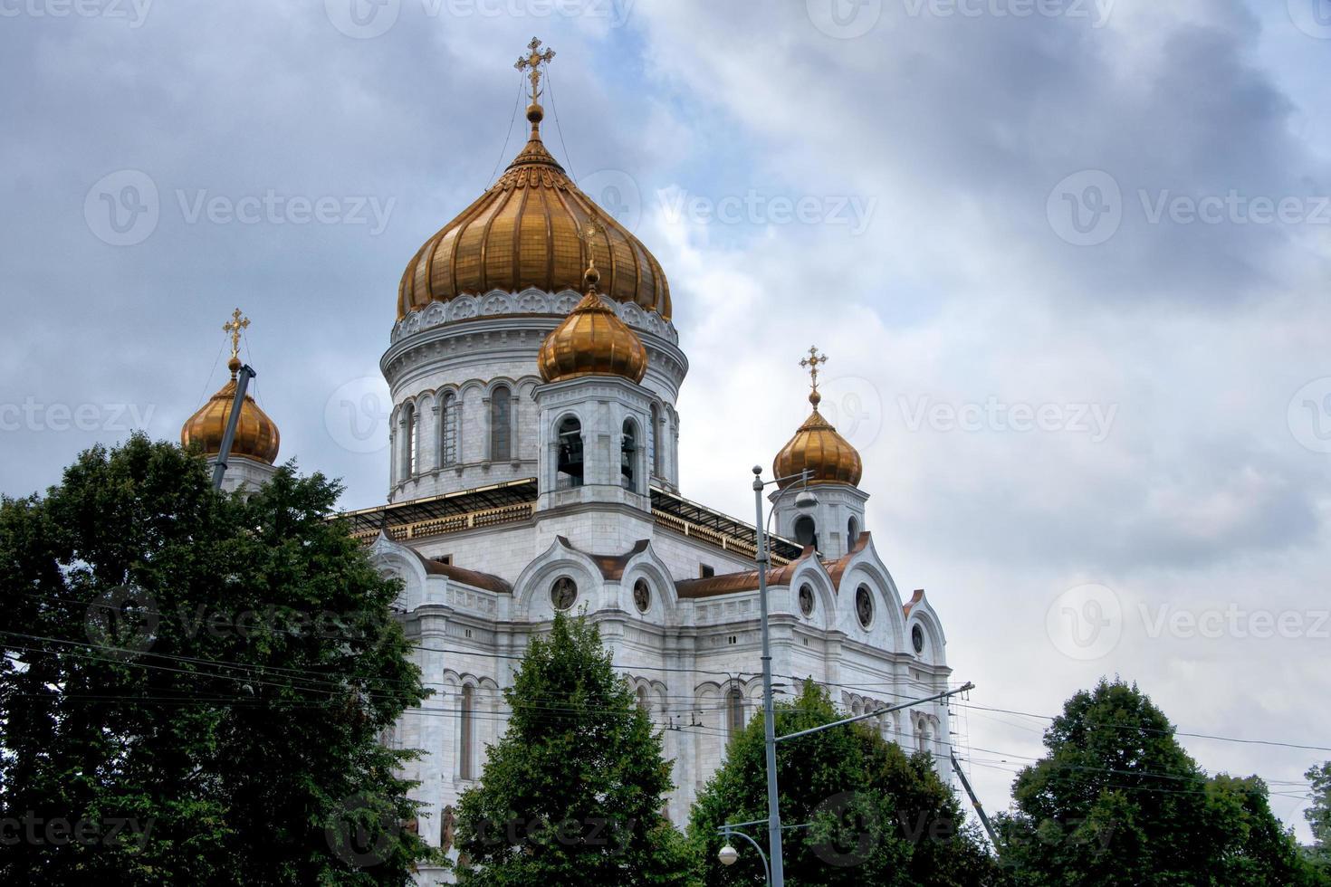 Russland: Kuppeln der Heilsretterkathedrale in Moskau. foto