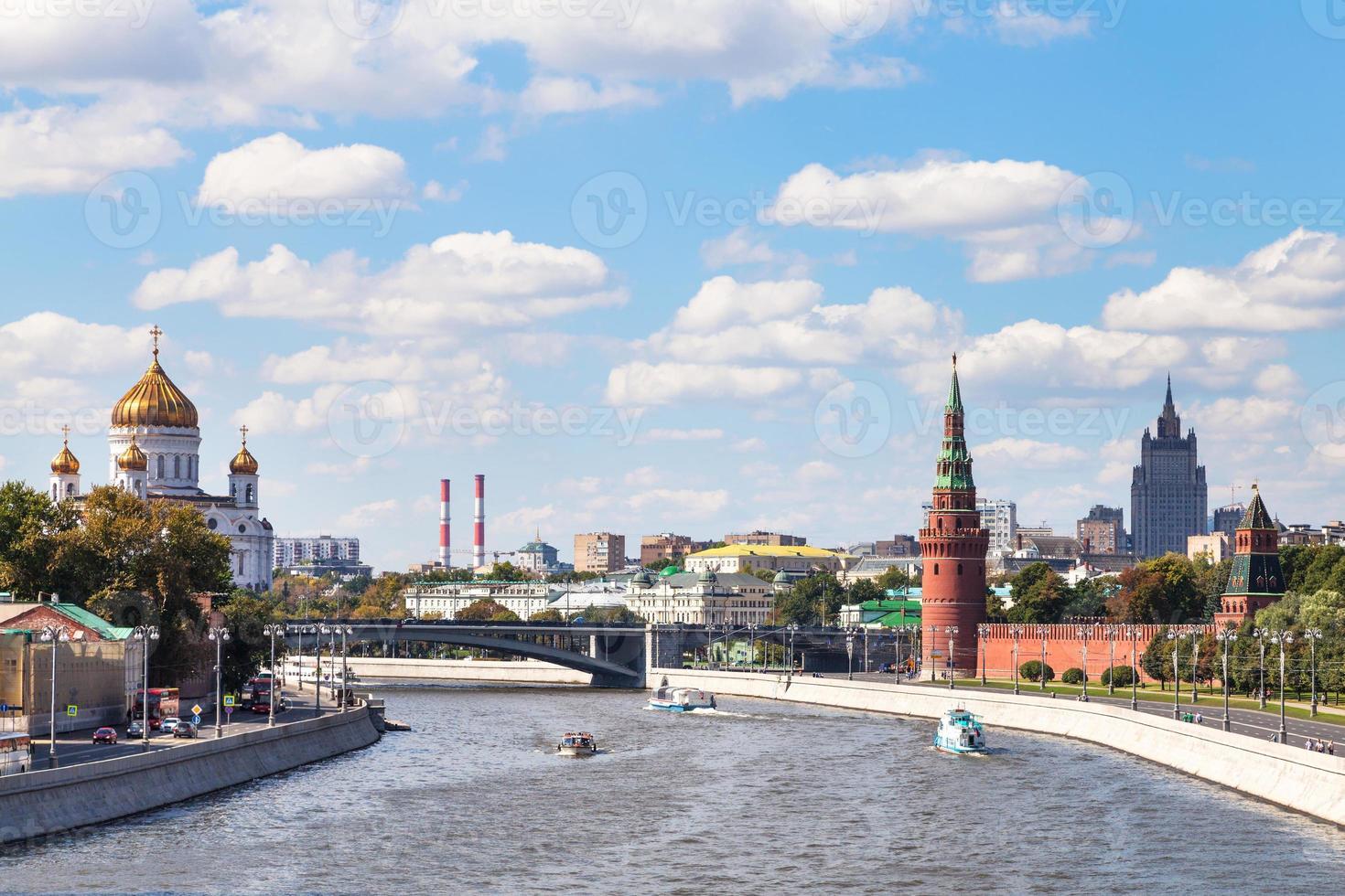 Bolshoy Kamenny Brücke auf Moskva Fluss, Moskau foto