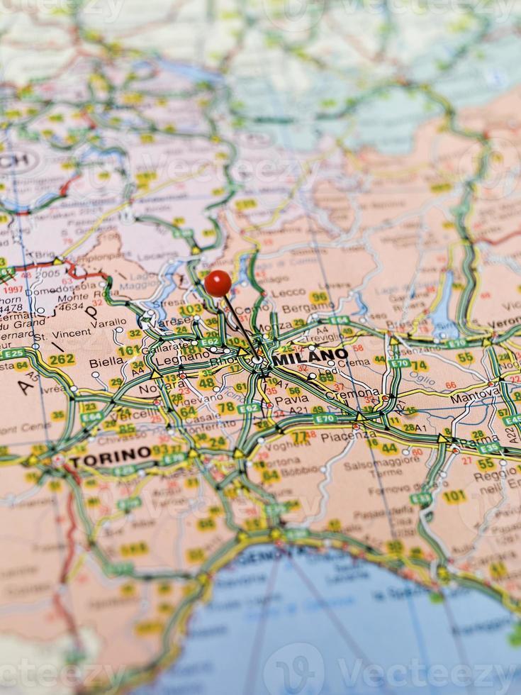 Karte von Mailand foto