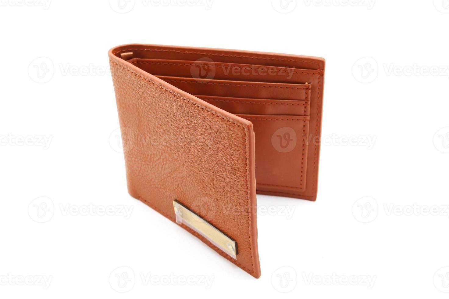 braune Leder Herren Geldbörse foto