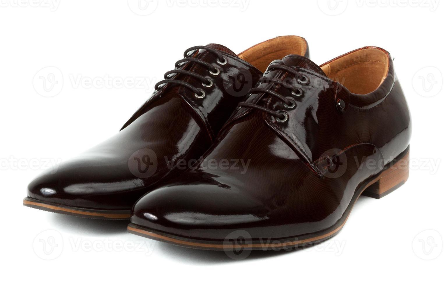 Paar braune Schuhe für Männer foto