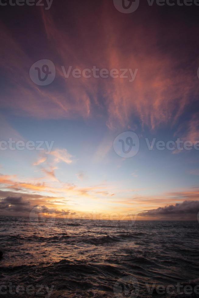 Sonnenuntergang im Indischen Ozean foto