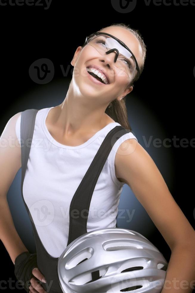 hübsche brünette professionelle Sportlerin foto