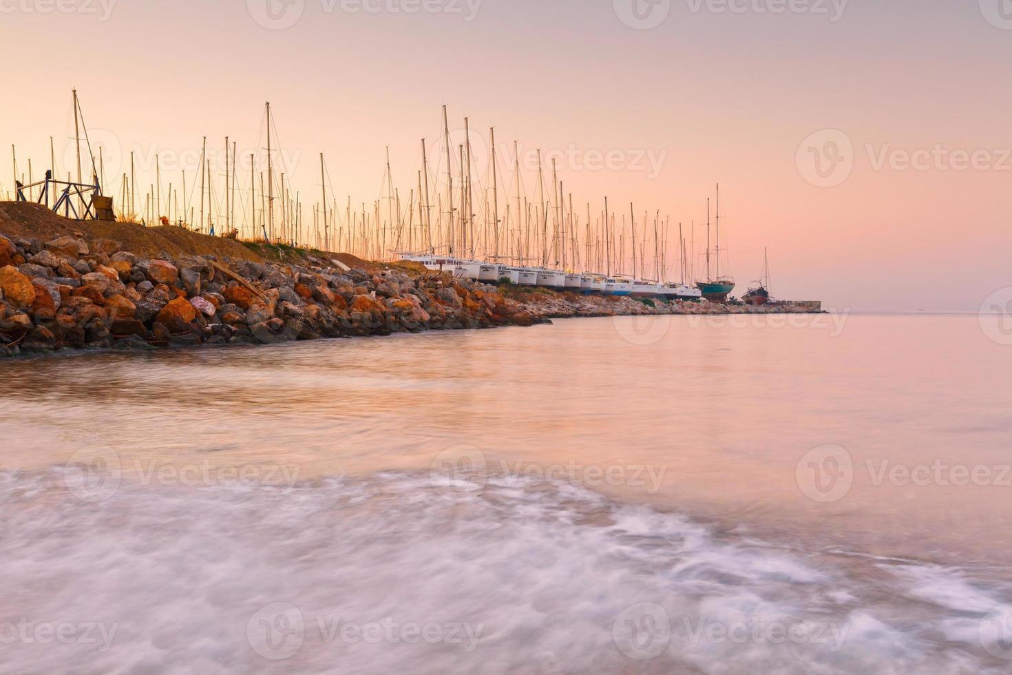 Alimos Marina in Athen. foto