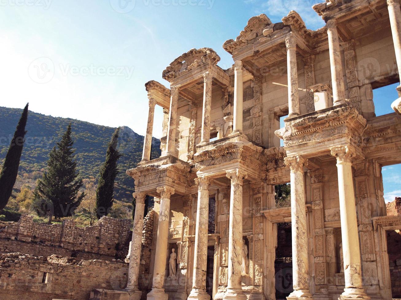 die Bibliothek bei Ephesus foto