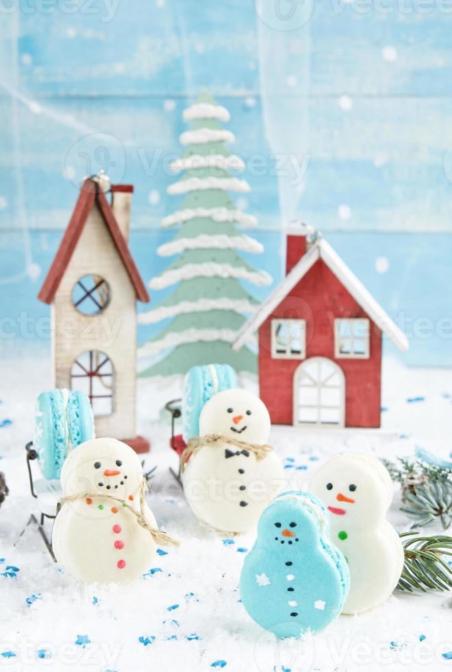 Weihnachten Makarons foto
