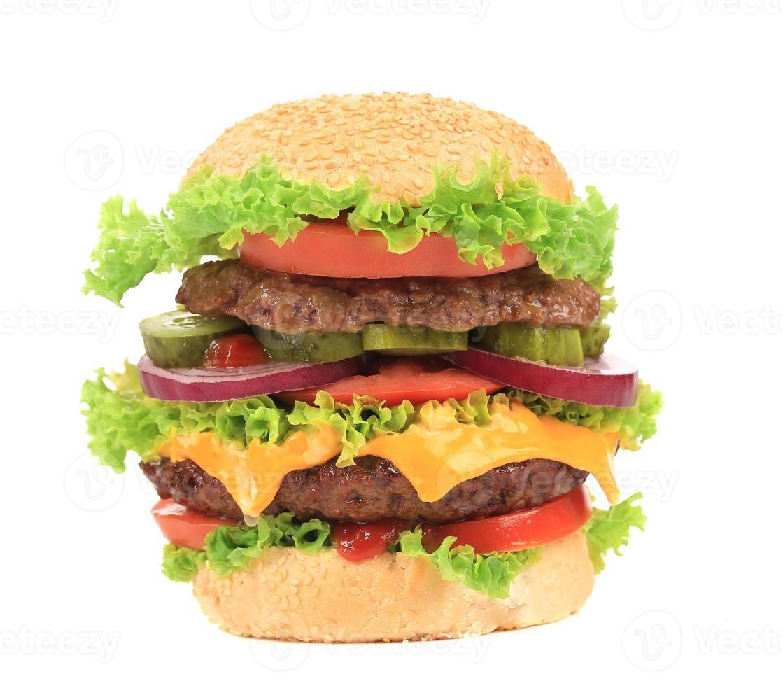 großer appetitlicher Hamburger. foto