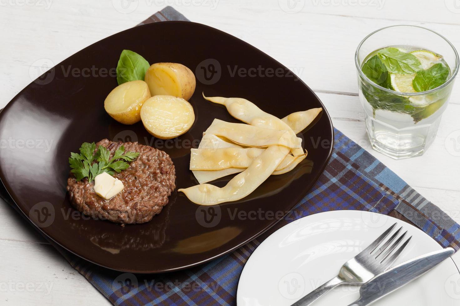 Gegrillter Hamburger. foto
