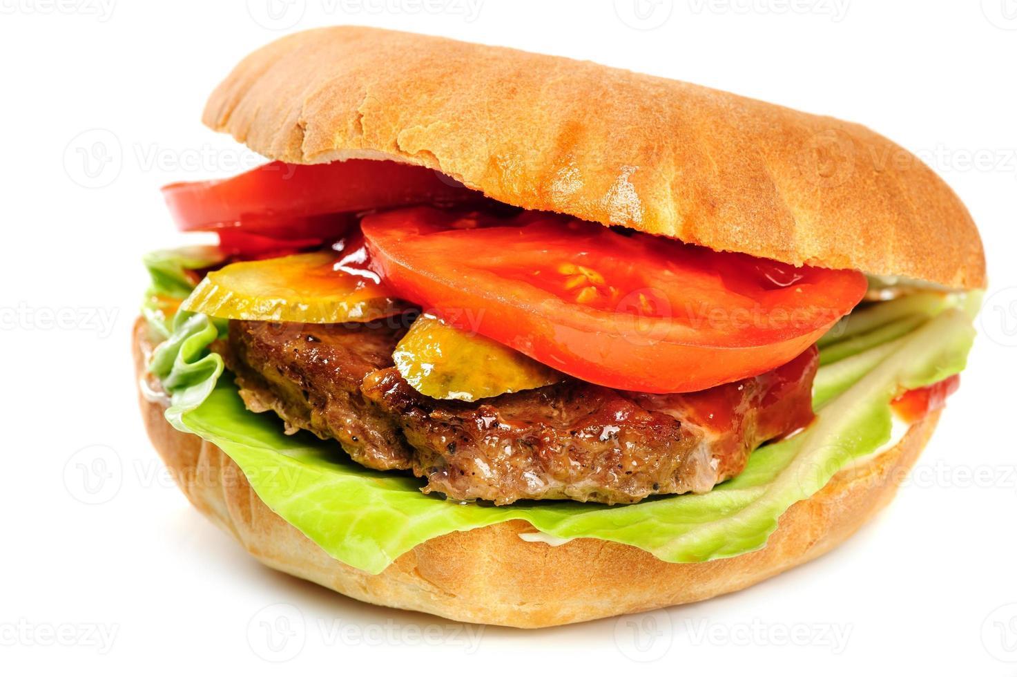 realistisch aussehender Hamburger foto