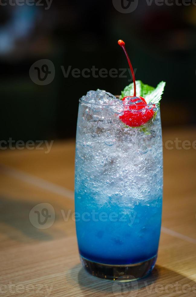 Blaubeer italienisches Soda foto