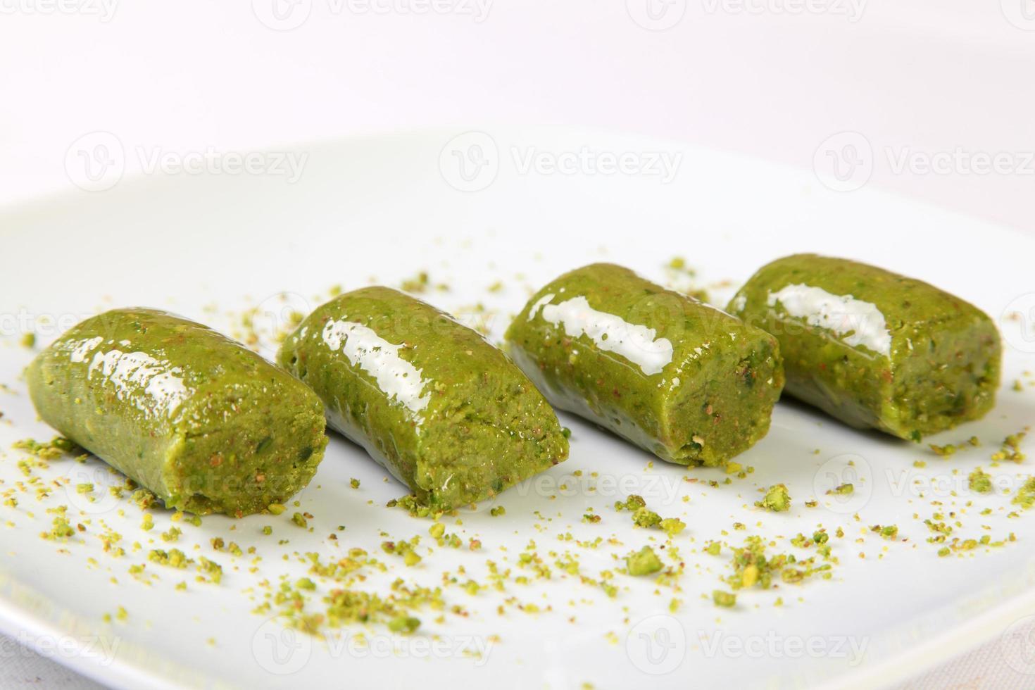 türkisches Pistazien-Dessert foto