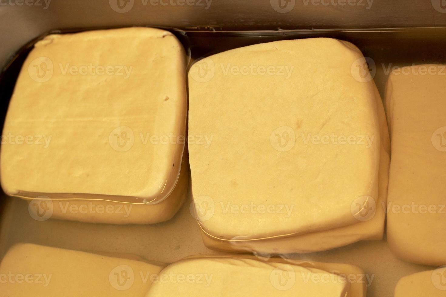 Tofu Pad ist auf dem Markt foto