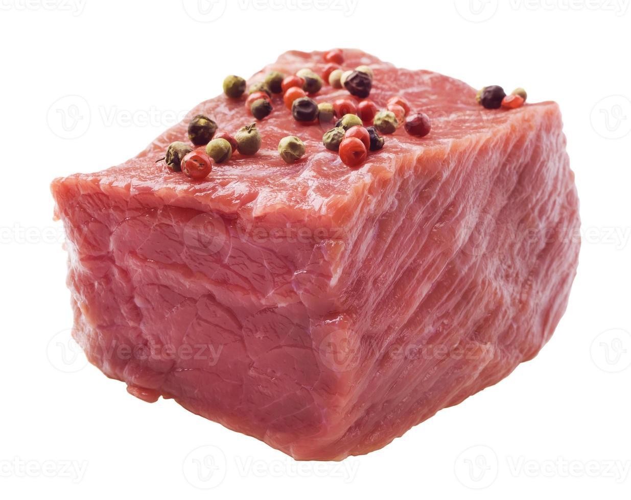 rohes Steak mit Pfeffer foto