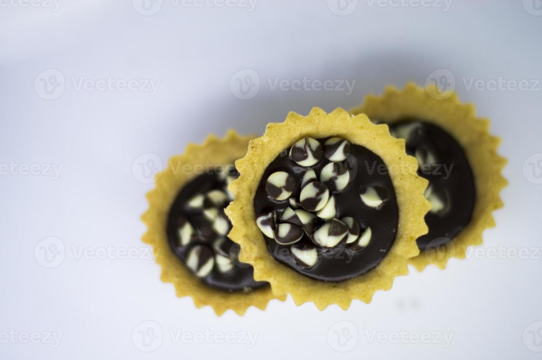 Schokolade mit Keksen foto