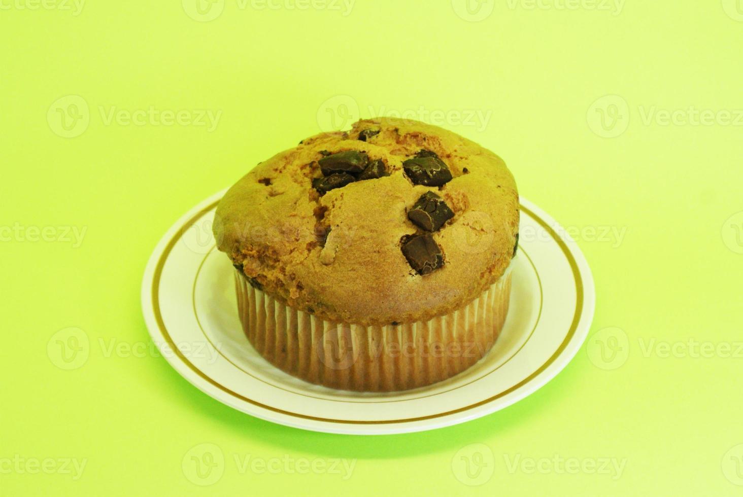 Muffin mit Schokoladenzentren foto