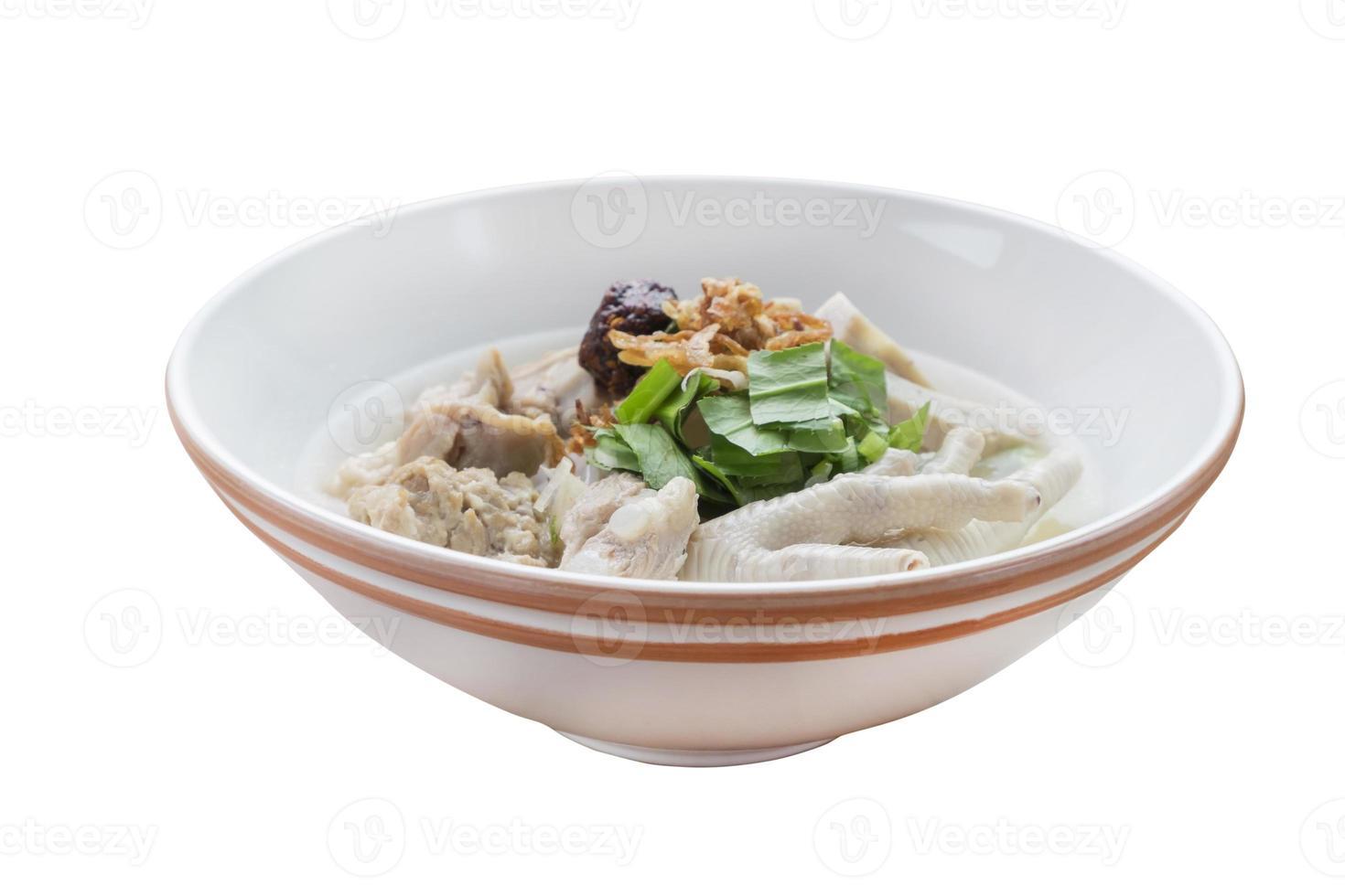 vietnamesischer Reisjub, vietnamesische Nudelsuppe foto