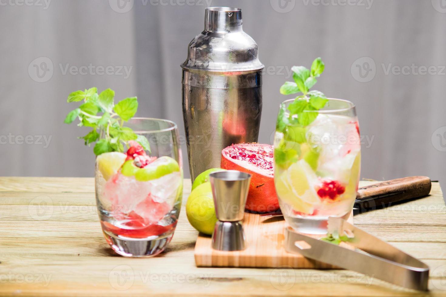 Mojito-Cocktail-Zubereitungen foto
