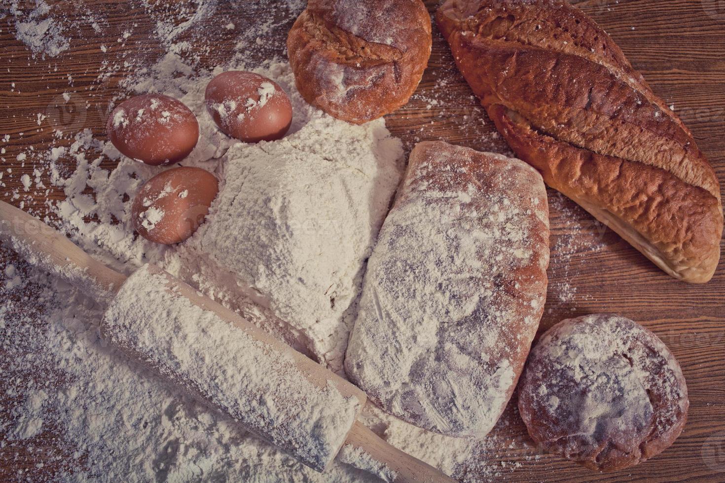 Mehl und Brot foto