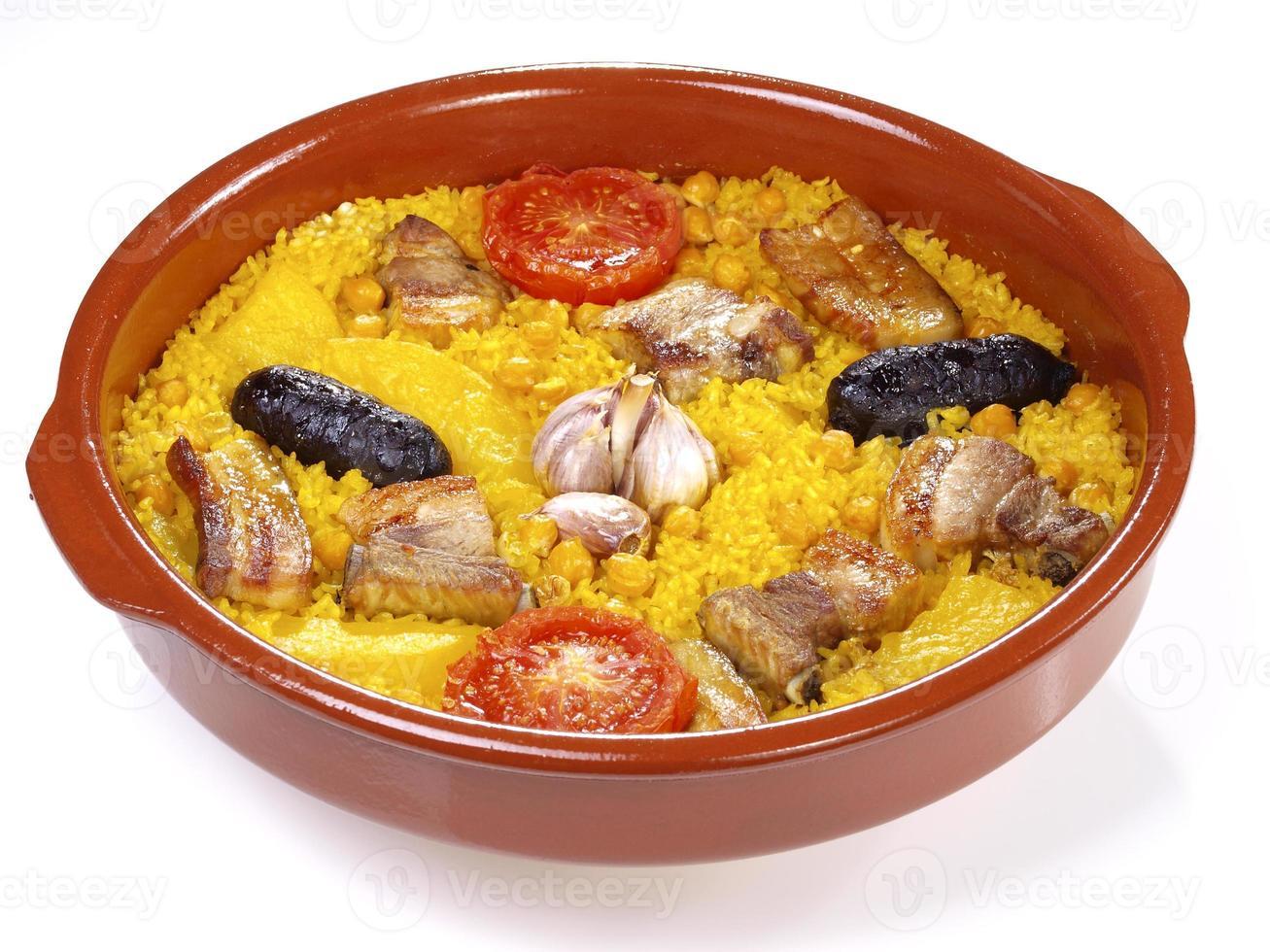 arroz al horno - ofengekochter reis foto
