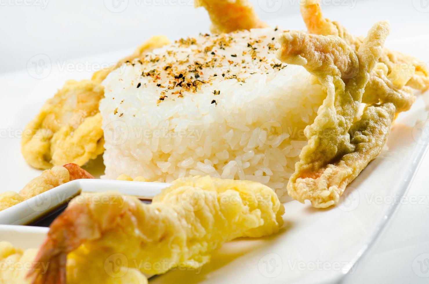 Hühnchen mit Reis foto