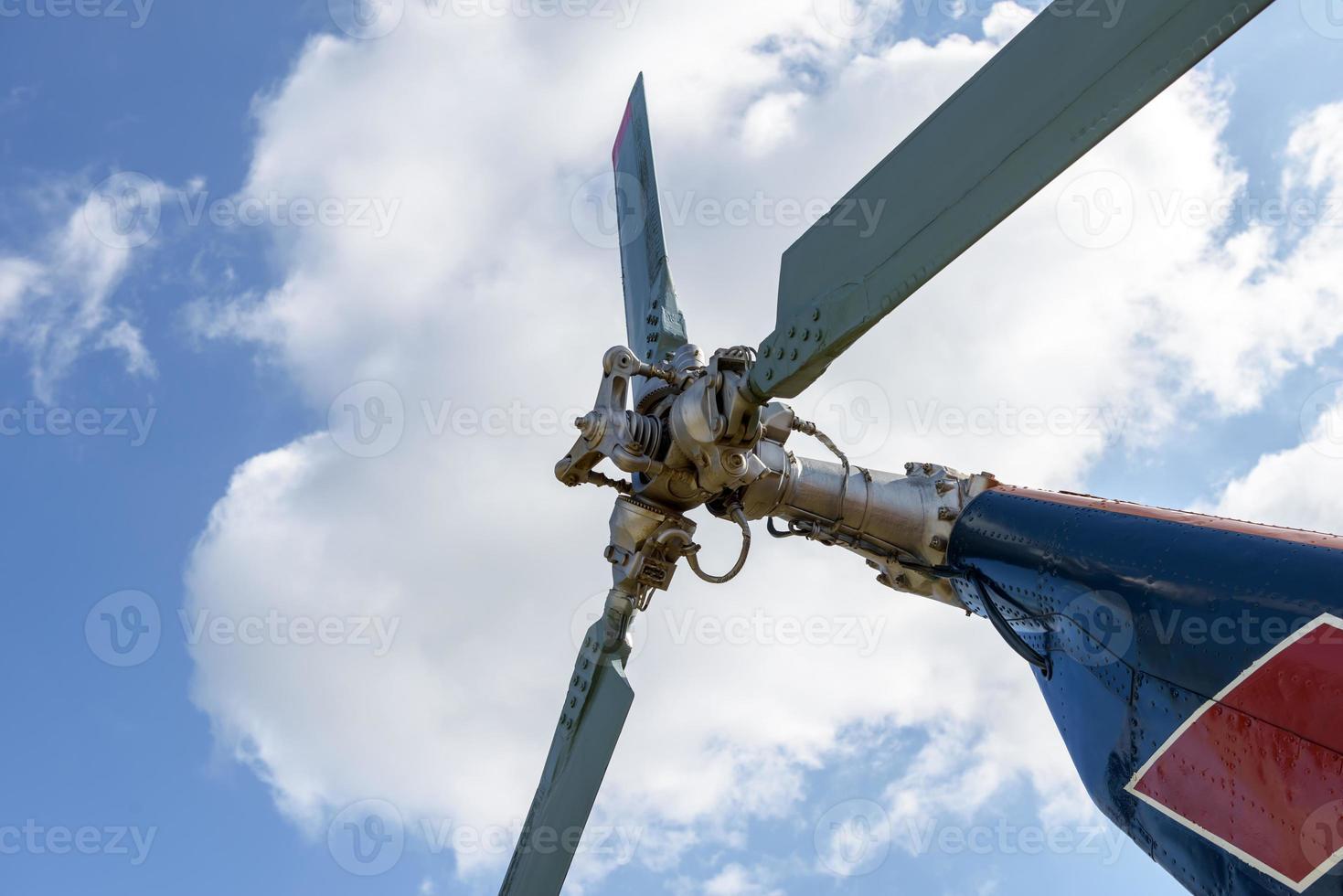 Heckrotor des Hubschraubers foto