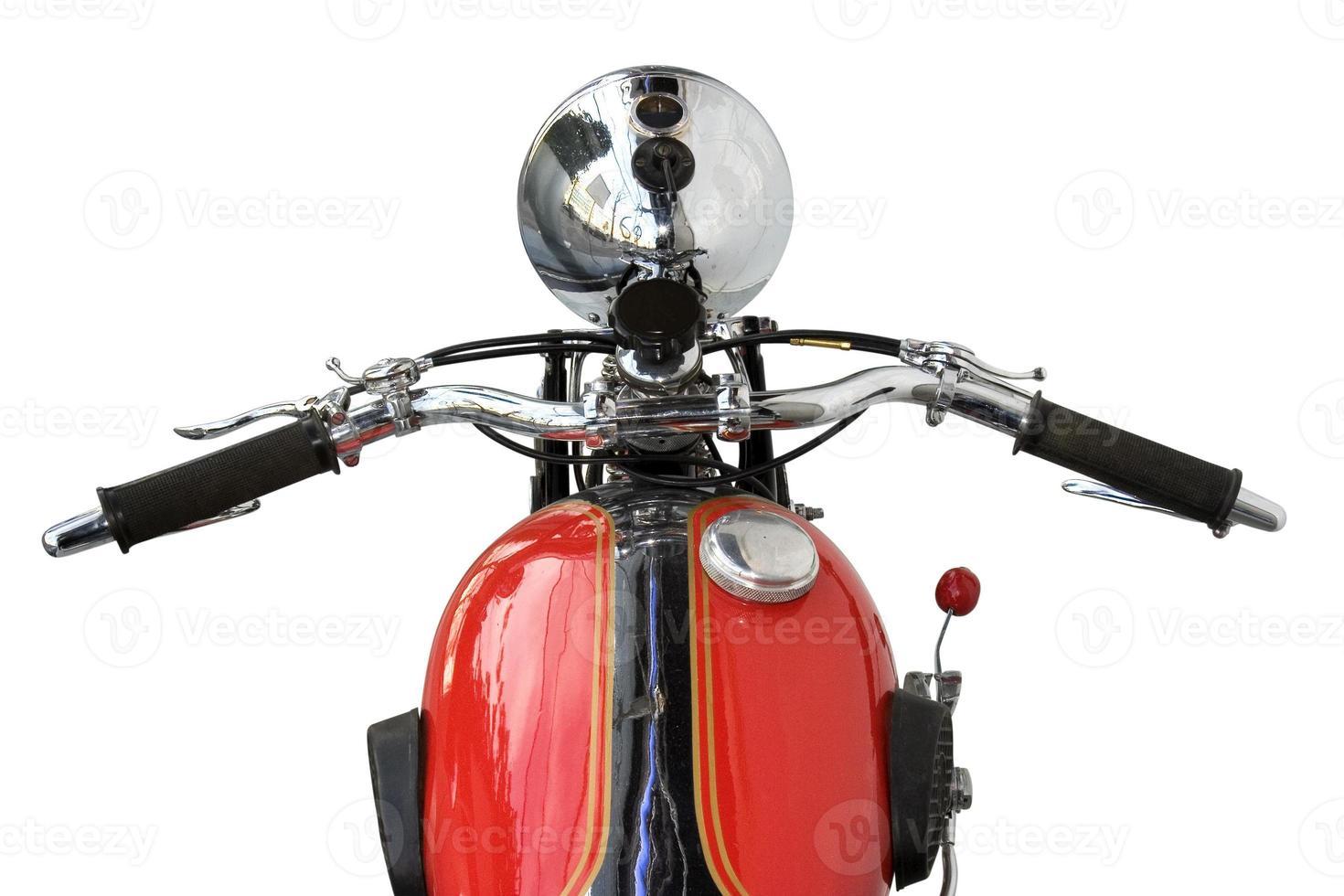 rotes Motorrad foto