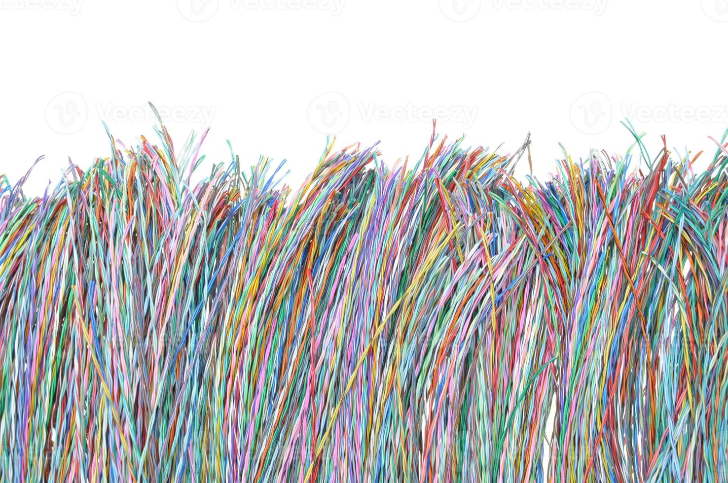 farbige Telekommunikationskabel und -drähte foto