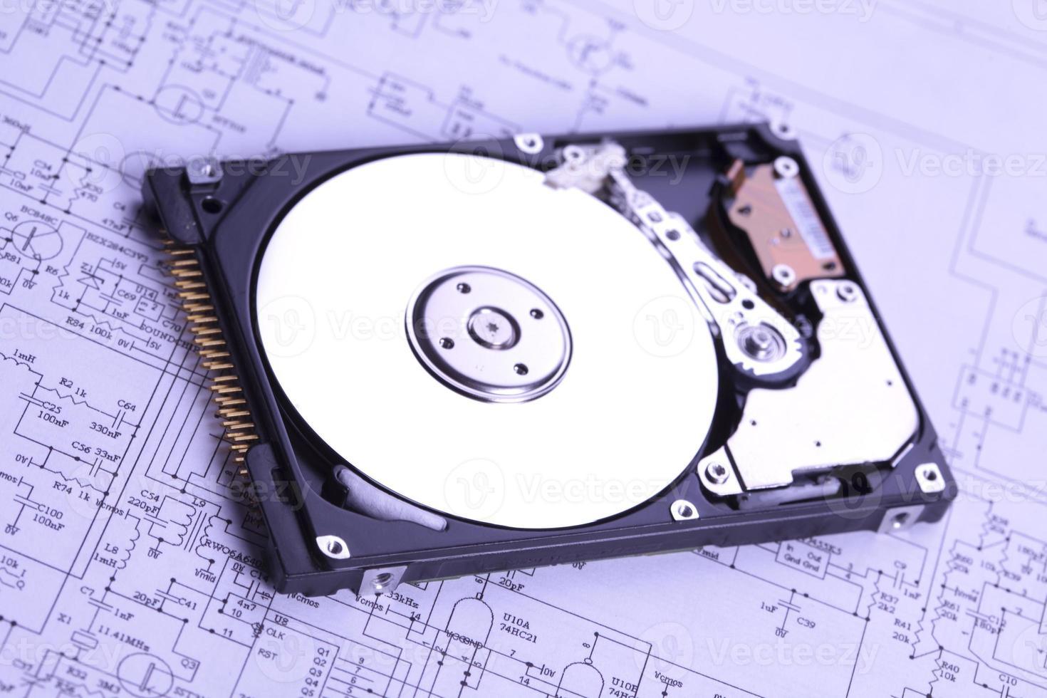 technologischer Hintergrund foto