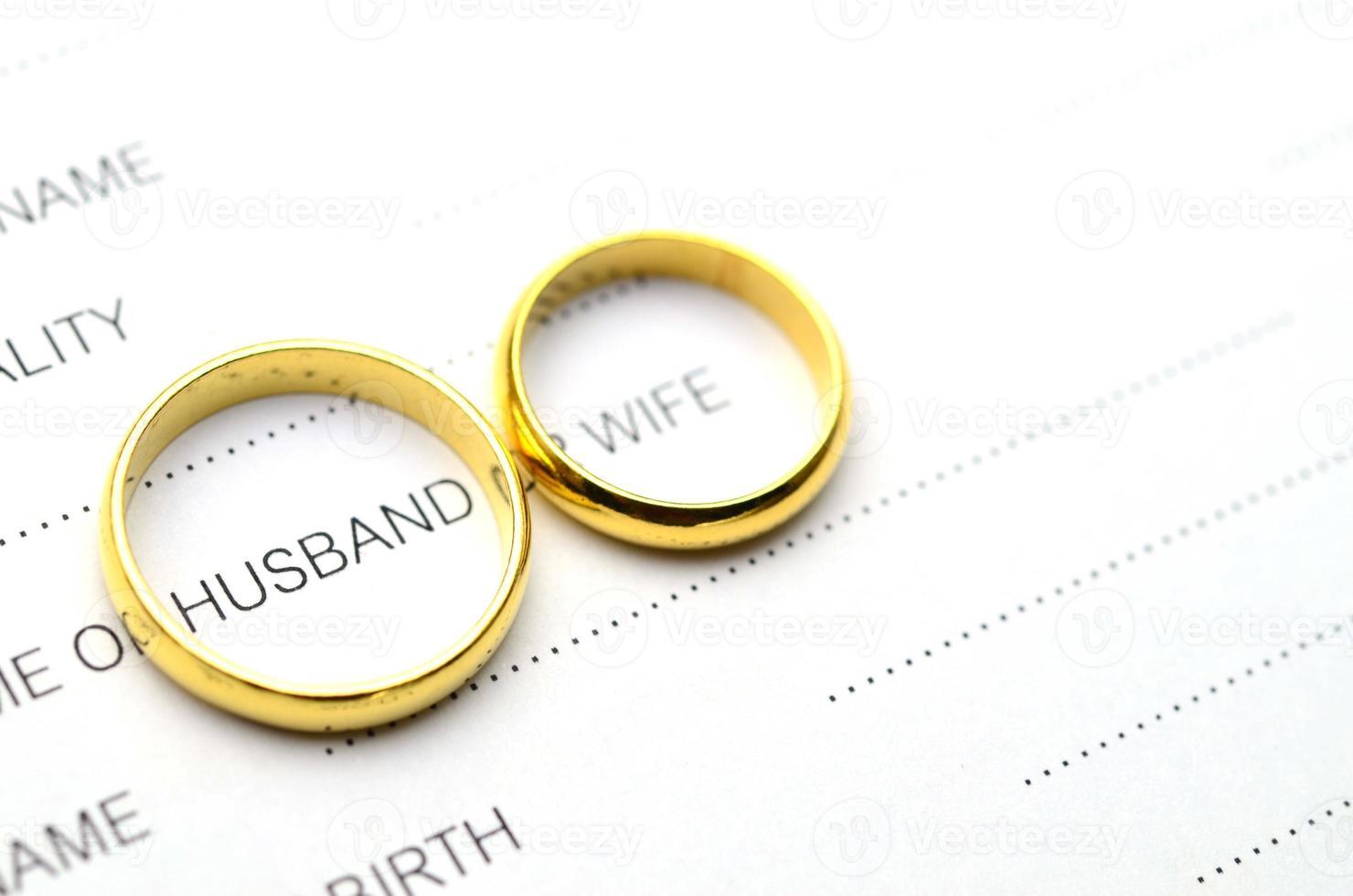 Ring Cover Ehemann Wort foto