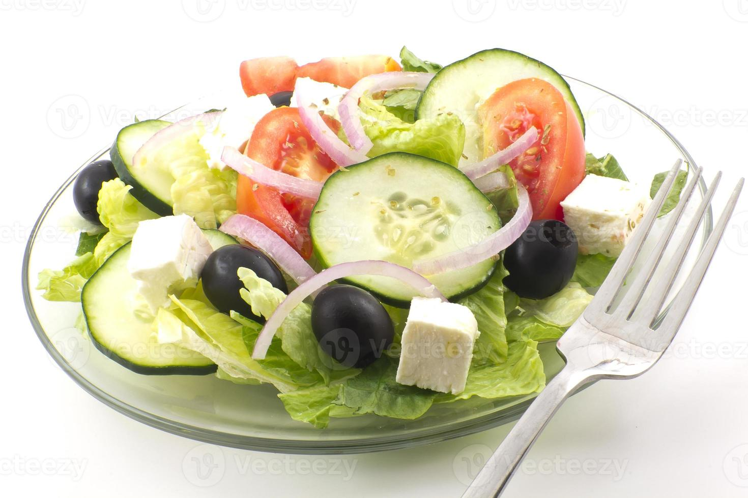 frischer griechischer Salat foto