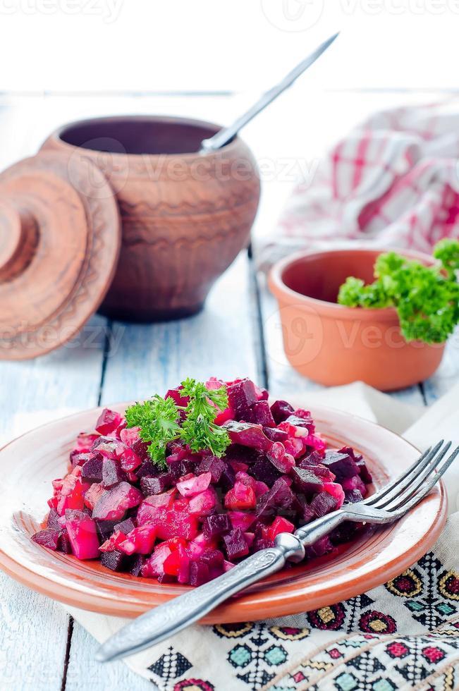 Rote-Bete-Salat-Essig foto